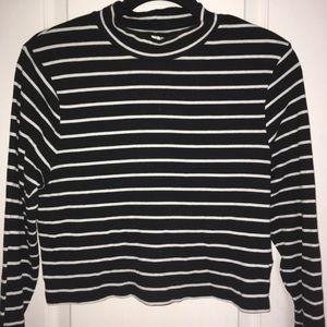 Black & White striped turtleneck